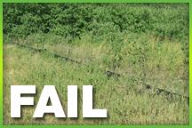 Silt Fence - Erosion Control - Failure